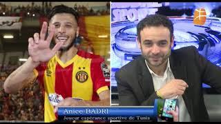 L'attaquant de l'Espérance de Tunis Anice Badri revient sur la victoire de son club