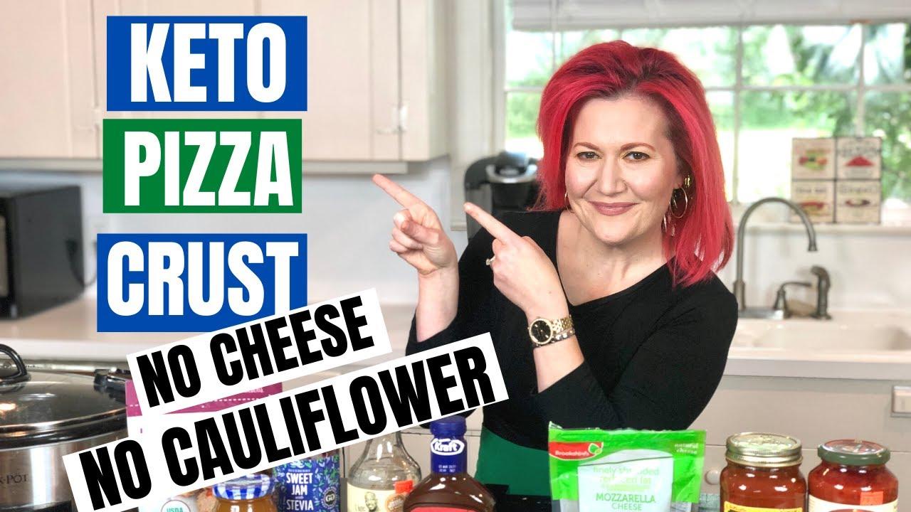 HOW TO MAKE KETO PIZZA CRUST WITH ALMOND FLOUR | KETO PIZZA BASE RECIPE | NO CHEESE NO CAULIFLOWER