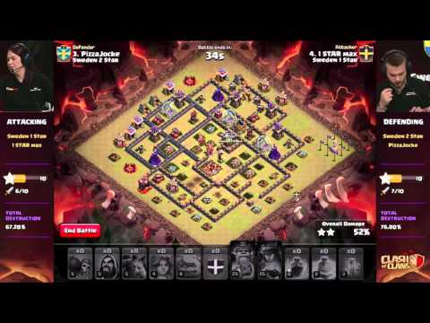 Clan War Semifinal: Sweden 1 Star vs. Sweden 2 Star