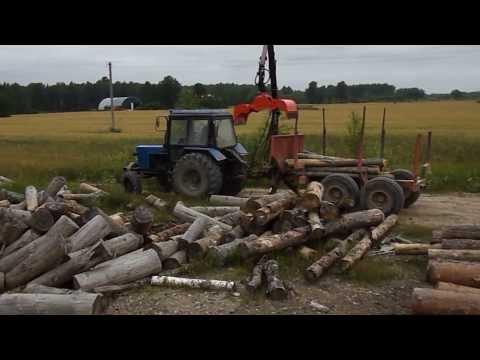 Грейферный захват DGM20 -работа с лесом