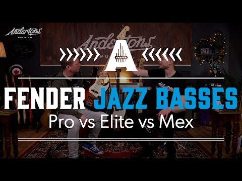 Fender Jazz Bass Shootout - Pro vs Elite vs Mex Standard