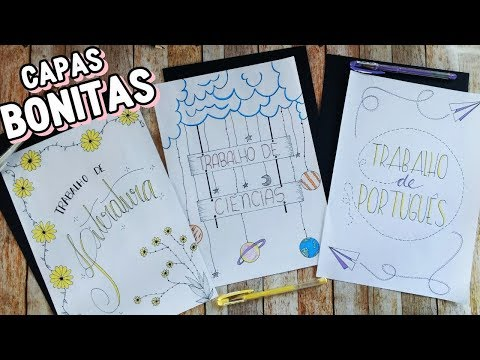 IDEIAS BONITAS PARA CAPAS DE TRABALHOS ESCOLARES #2