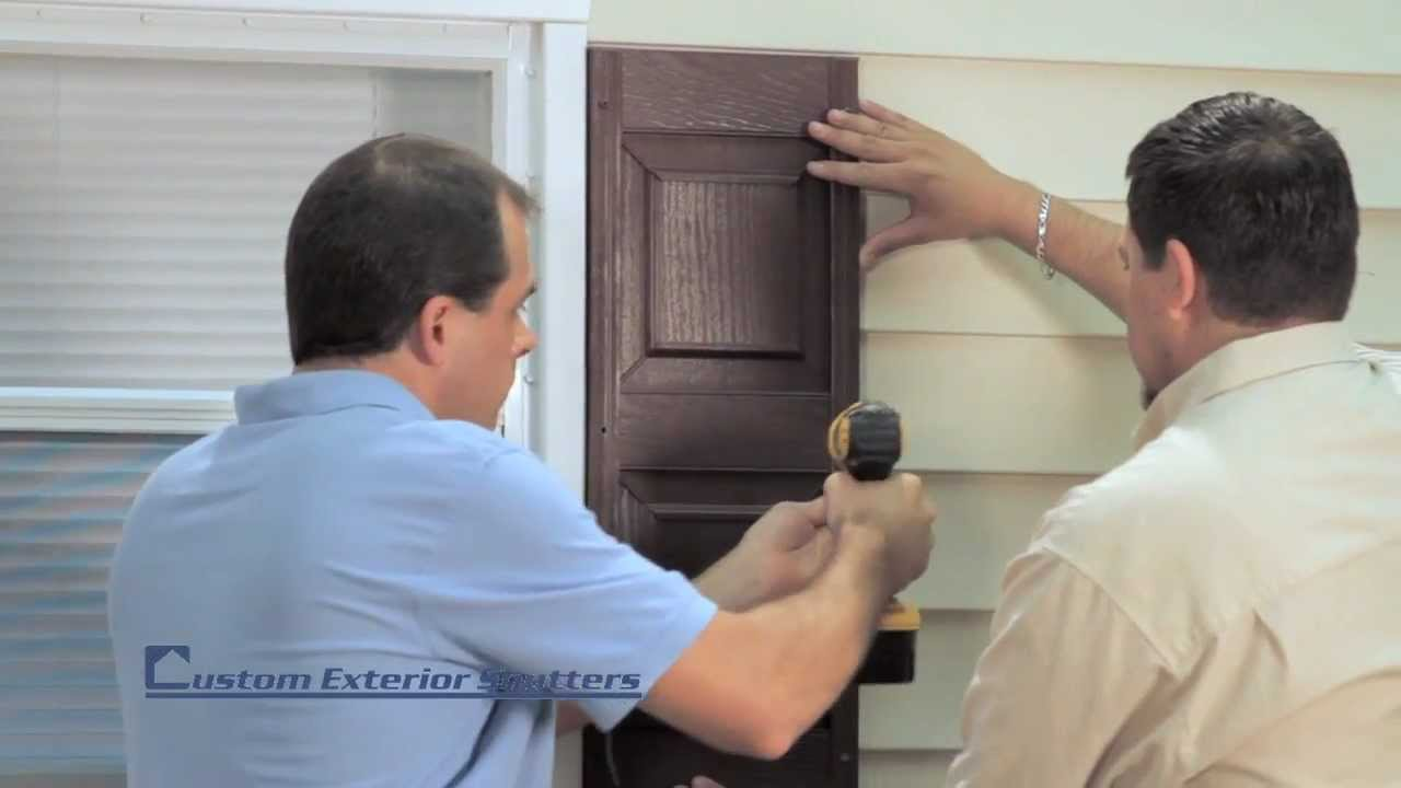 Installing Exterior Shutters Using Screws Youtube
