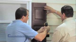 Installing Exterior Shutters using screws