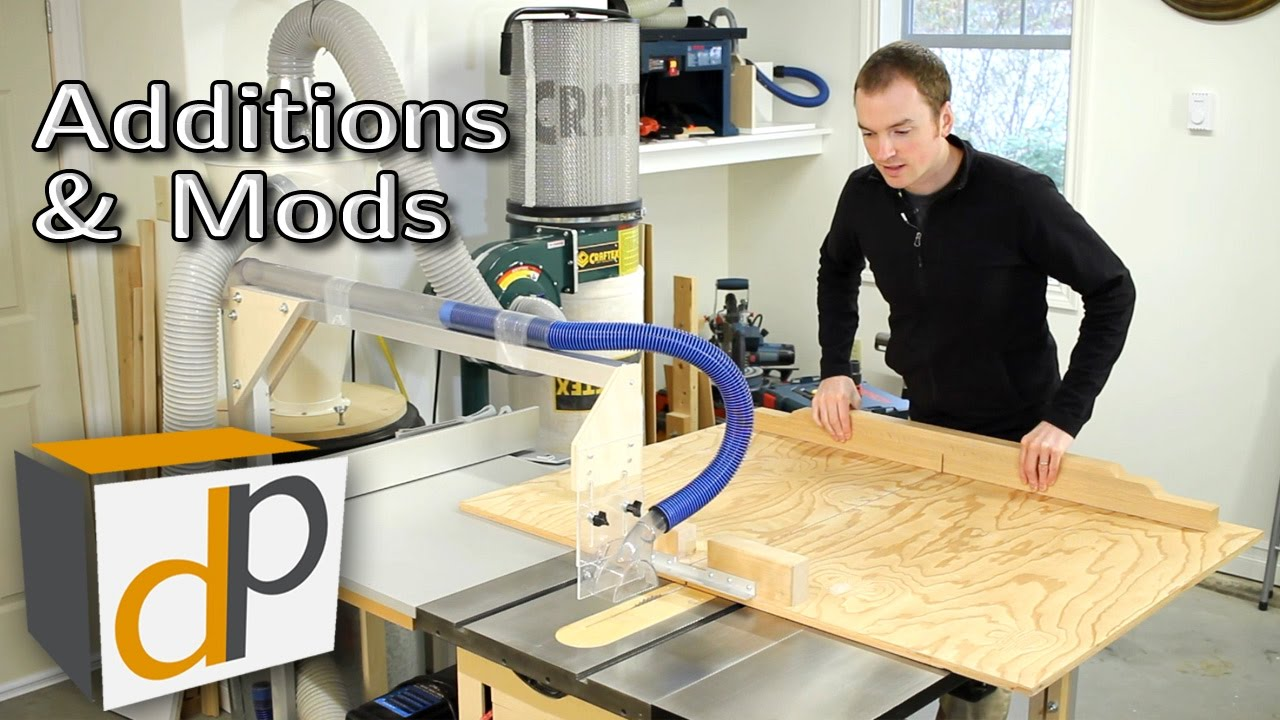 How To Build An Overarm Dust Collector For Your Table Saw Youtube