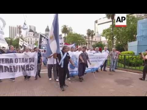 YTDN365-Argentina Falkland Island war veterans protest