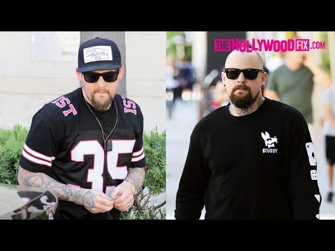 Joel & Benji Madden Have Lunch At Wolfgang Puck's Steakhouse In Beverly Hills 3.26.16