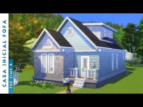 CONSTRUÍ UMA CASA INICIAL FOFA | The Sims 4 (Speed Build) thumbnail