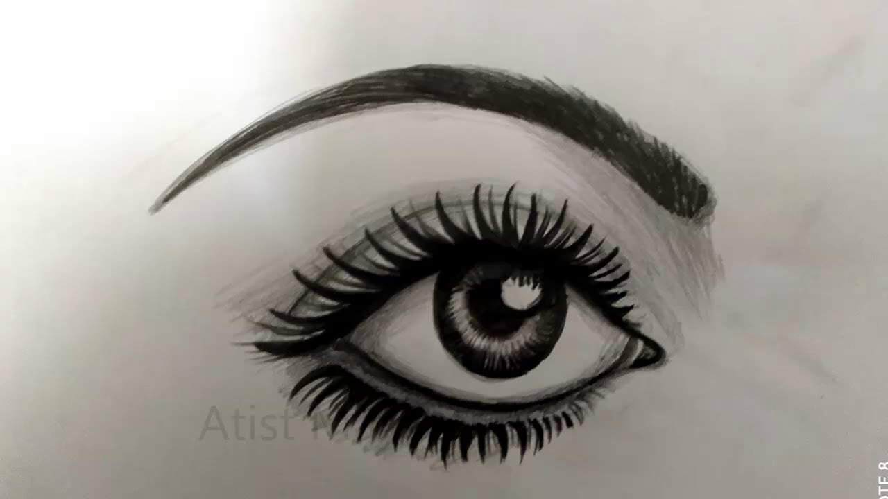 how to draw Women Face Drawing step by step for beginners #Eyes