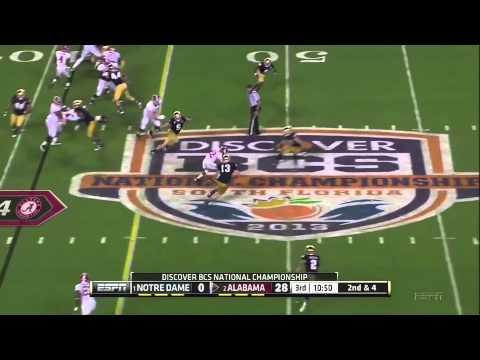 2013 BCS National Championship Game - #1 Notre Dame vs. #2 Alabama Highlights