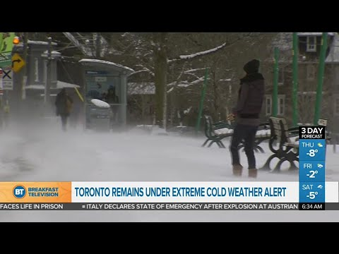 Day 2 of extreme cold weather in Toronto