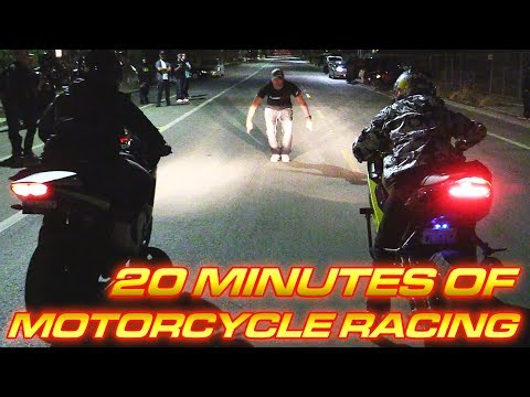 20 Minutes of Motorcycle Street Racing!