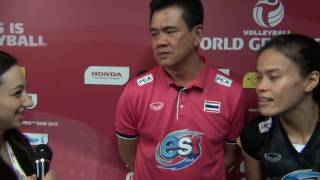 19-06-2016: Bari WGP - Coach and captain of Thailand. THA-NED