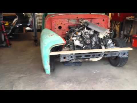 1955 Ford F100 Pickup Build Sept 20th 2015 2 Cab Placement Youtube