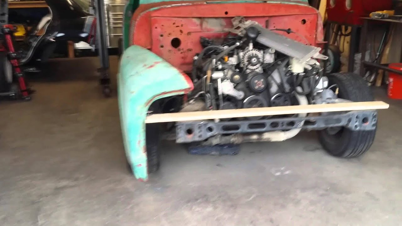 1955 Ford F100 Pickup Build Sept 20th 2015 2 Cab Placement Youtube Project