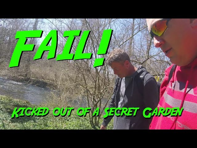 FAIL!   Michael Feyrer and I get Kicked Out of a Secret Hidden Garden