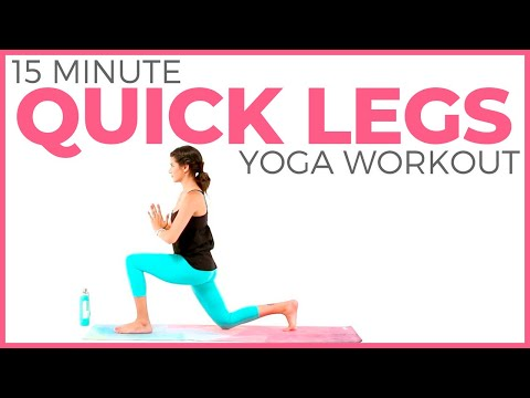15 minute Power Yoga Workout 🔥 Quick Legs & Booty | Sarah Beth Yoga