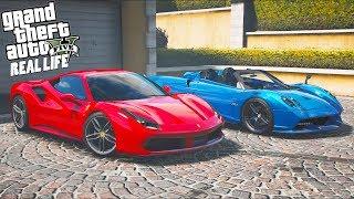 Гта 5 Реальная Жизнь №278 Друг Купил Крутой Суперкар. Тестируем Ferrari 488 И Pagani Huayra