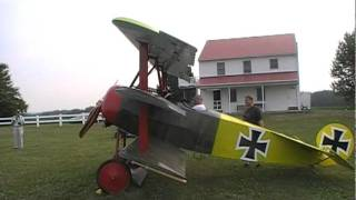 Fokker DRI propane Spandau machine guns  firing