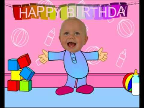 baby dancing  funny happy birthday video card, Birthday card