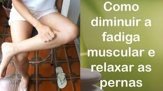 Perna muscular na a como tratar tensão