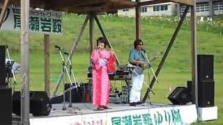 元NHK歌のお姉さん、稲村なおこさんのユニット「IRISH]によるミニライブ.