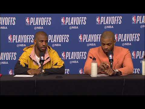 Chris Paul & PJ Tucker Postgame Interview - Game 4 | Warriors vs Rockets | 2019 NBA Playoffs