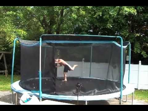 Quad Full! + Half in Half out | Garden Trampoline | 13 Years Old