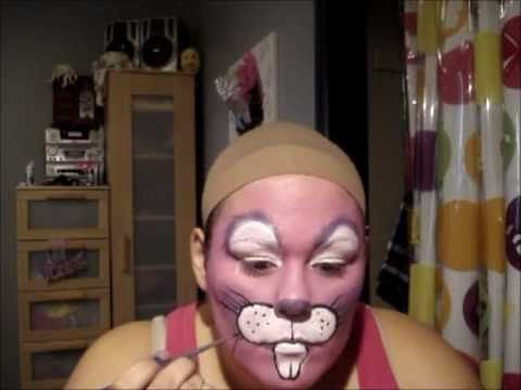 Full Face Bunny Face Paint YouTube