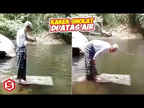 Heboh! Di Tengah Hutan Seorang Kakek Terlihat Sholat Di Atas Air, Kejadian Selanjutnya Tidak Terduga