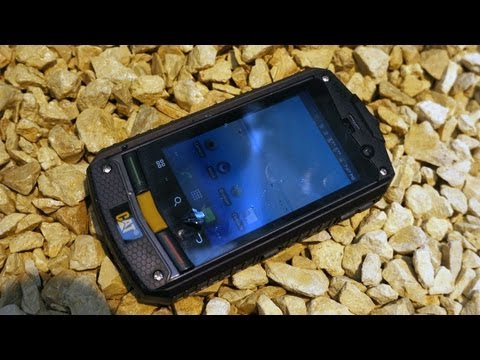 CeBIT 2012 - CAT B10 smartphone hands-on at CeBIT 2012
