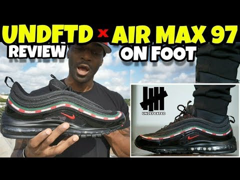 UNDEFEATED x NIKE AIR MAX 97 BLACK  & ON FOOT!!!
