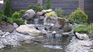 видео Декоративные водопады для дома: водопад с водоемом в доме