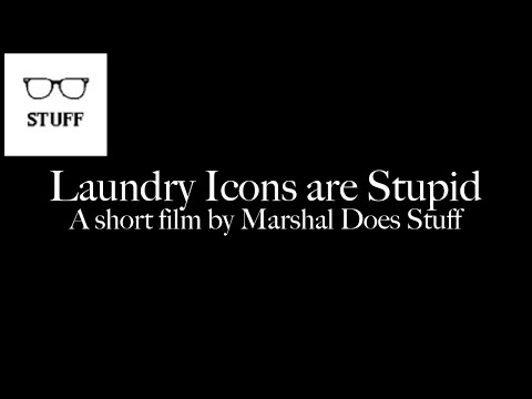 Laundry Icons are Stupid - A Short Film by Marshal Does Stuff
