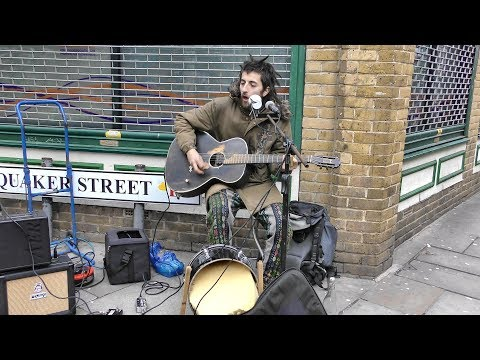 Great Street Music, Guitar and Voice, in Brick Lane, Shoreditch, London