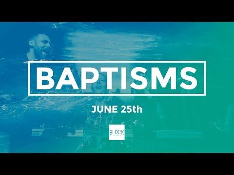 Baptisms June 2017 - A Wilderness Wager