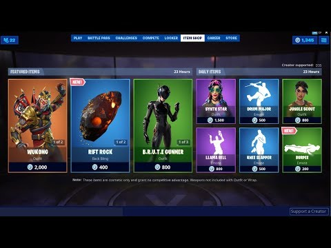 *NEW*Rift Rock Back Bling & Burpee Emote! Fortnite Item Shop August 3, 2019