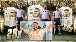 OMG! 20x MID OR BABY ICON PACK OPENING EXPERIMENT 😱😱 FIFA 21