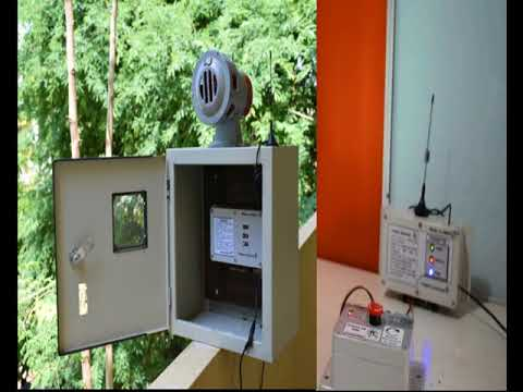Wireless hooter, 3km trigger signal, 3km audible sound, for army and border patrol, FORBIX SEMICON