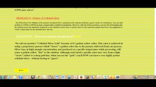 Colloidal Silver Gold - YouTube Special Only
