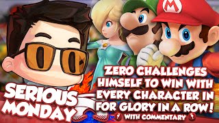 ZeRo Challenges Himself To Win With Every Character In For Glory In A Row! w/ Commentary