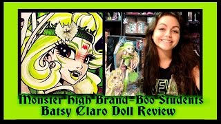 Monster High Brand-Boo Students Batsy Claro Doll Review | WookieWarrior23 thumbnail