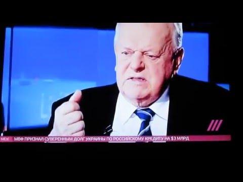 Колхозник - С.Шушкевич о А.Лукашенко в интервью Ксении Собчак
