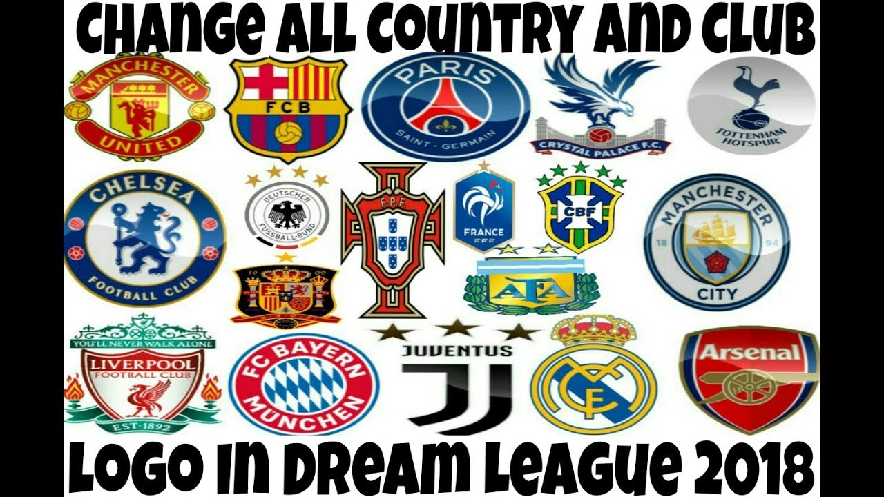 How to Change All Country And Club Logo in Dream league soccer 2018