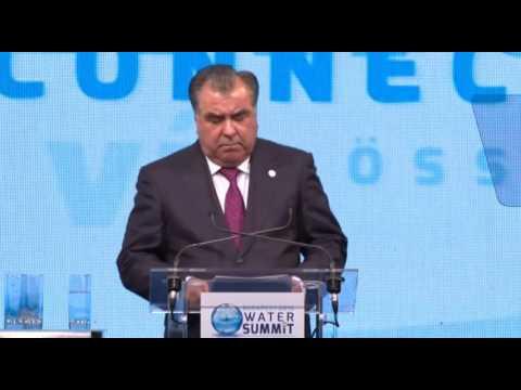 President Emomali Rahmon's address at the Budapest Water Summit 2016