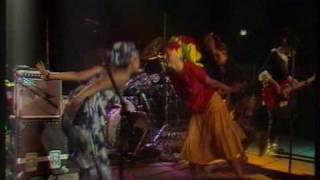 "The Slits perform ""Man Next Door"" in Berlin at Tempodrom on June 19..."