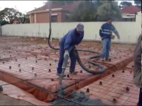 Pouring a cement house slab (foundation) in Australia