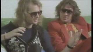 Andy kershaw interview with dave lee roth and angus young at donnington monsters of rock 1984