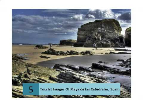 tourist-images-of-playa-de-las-catedrales,-spain
