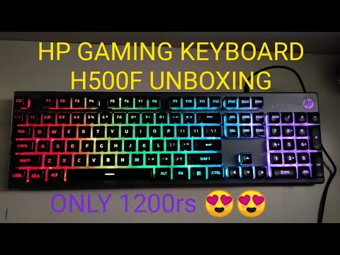 HP Gaming Keyboard K500F || Unboxing || Review || Best keyboard under 1200₹||